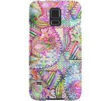 Abstract Girly Neon Rainbow Paisley Sketch Pattern Samsung Galaxy Case/Skin