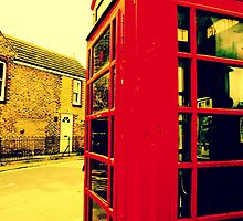 Telephone Box at the beach by JGadd999