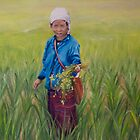 Rice Field Worker, Part 2 by Andrea Vreken