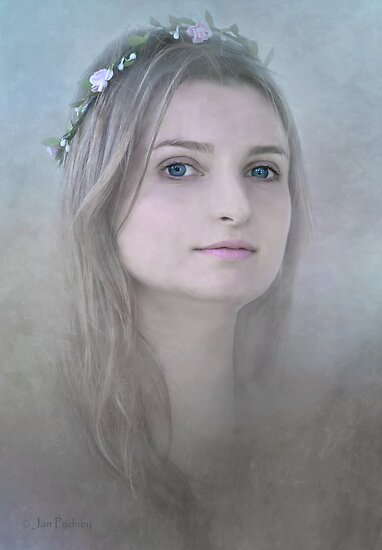 Girl with blue eyes by Jan Pudney