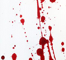 Blood Spatter Knife Cast Off by jenbarker