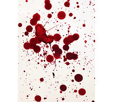 Blood Spatter 7 Photographic Print