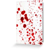 Blood Spatter 1 Greeting Card