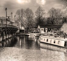 Stratford upon Avon Riverside Scene by StephenRphoto