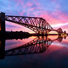 Forth Rail Bridge at Sunrise by PhilipCormack