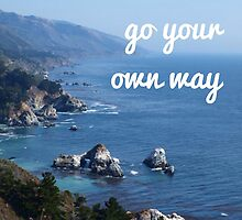 You can go your own way by Becki Breed