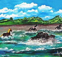 Wild (Sea) Horses...... by WhiteDove Studio kj gordon