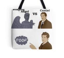 Weeping Angel VS Castiel Tote Bag