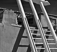 DOUBLE LADDER ACOMA PUEBLO by Thomas Barker-Detwiler