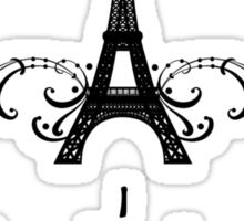 Gray Vintage French Flourish Sticker