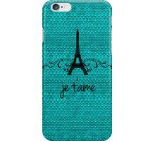 Teal Vintage French Flourish iPhone Case/Skin