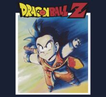 Kid Gohan and DBZ Logo by DBZKING