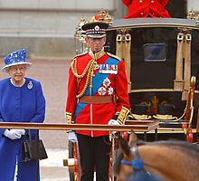 The Queen and The Duke Of Kent after Trooping The Colour by Keith Larby
