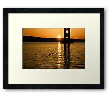 San Francisco Bay Bridge Sunrise Framed Print