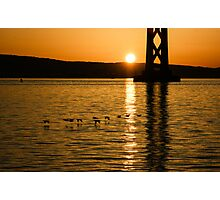 San Francisco Bay Bridge Sunrise Photographic Print