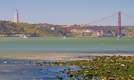 Tejo. Lisbon bridge. by terezadelpilar~ art & architecture