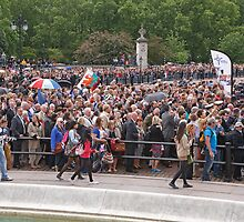 Crowds at Trooping The Colour by Keith Larby