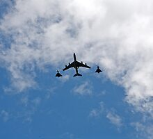 Air display at Trooping The Colour by Keith Larby