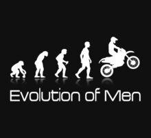 Evolution of Men - White Print by Janja