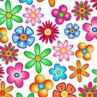Flowers Colorful Pop Art Pattern by BluedarkArt