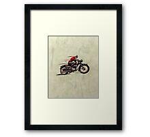 VINTAGE MOTORCYCLE ART Framed Print