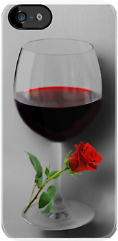 (✿◠‿◠) WINE WITH ROSE IPHONE CASE (✿◠‿◠) by ╰⊰✿ℒᵒᶹᵉ Bonita✿⊱╮ Lalonde✿⊱╮