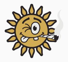 Funny Joint Smoking Sun by Style-O-Mat