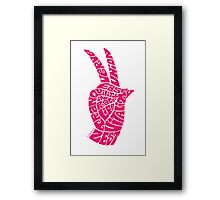 Life Force Hand in Bright Pink Framed Print