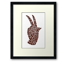 Life Force Hand in Milk Chocolate Framed Print