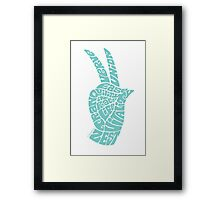 Life Force Hand in Soft Seafoam Teal Framed Print