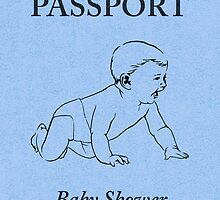 baby shower passport by maydaze