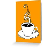 coffee scribble Greeting Card