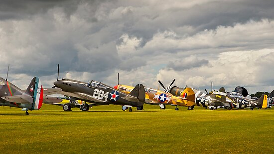 Duxford Flightline by Delfino