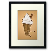Dalek Ice-Cream a Summer Time Lord Treat Framed Print