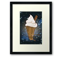 Dalek Ice-Cream a Treat in Space and Time Framed Print