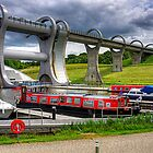 Boats at the Falkirk Wheel by Tom Gomez