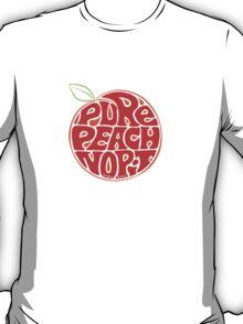 Pure Peach Fruit Artwork Small T-Shirt