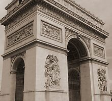 Arc de Triomphe de l'Étoile (Vintage look) by maplewellsphoto