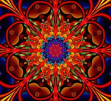 The blooming Kaleidoscope, fractal artwork by walstraasart