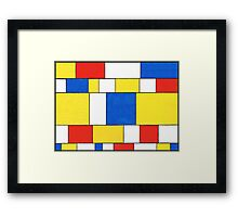 BLUE, RED, YELLOW AND WHITE COLORED AREAS Framed Print
