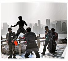 everyone wants to be Bruce Lee in Hong Kong  Poster