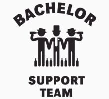 Bachelor Support Team (Stag Party / Black) by MrFaulbaum
