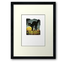 Mysterious as a Cat Framed Print