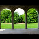 Garden View Through Coe Hall Historic House Museum Arches - Upper Brookville, New York by © Sophie W. Smith