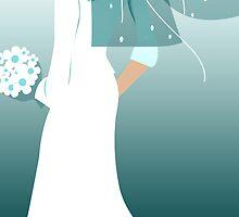 teal bride by maydaze