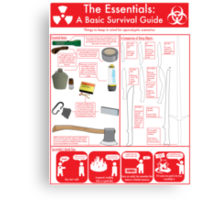 The Essentials: A Basic Survival Guide Canvas Print