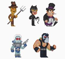 Batman Villains Pixel Figure Sticker Set 1 by Pixelfigures