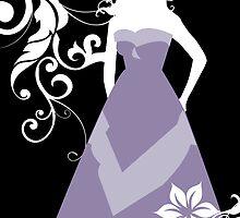 purple wedding dress by maydaze