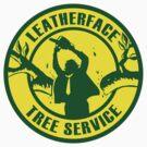 Leatherface Tree Service Sticker by Dansmash