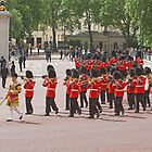 Bandsman marching at Trooping The Colour by Keith Larby